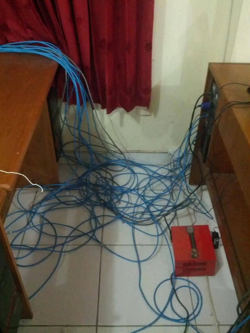 instalasi jaringan di sekolah harapan